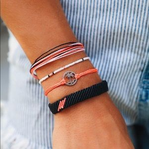 🆕 Pura Vida Pink and Black Bracelet Bundle